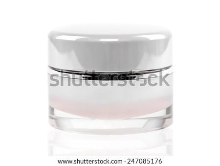 Facial cream jar. Beauty concept - stock photo