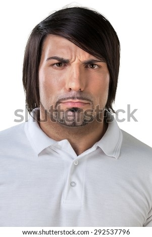 Facial Expression, Human Face, Individuality. - stock photo