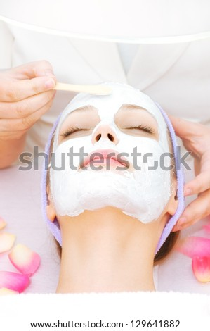 woman receiving cleansing therapy stock photo 125561075 shutterstock. Black Bedroom Furniture Sets. Home Design Ideas