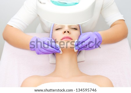 Facial treatment - stock photo