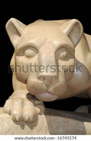 Facial view of Nittany Lion statue - stock photo