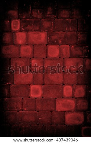 Facing dark red tiles background or texture