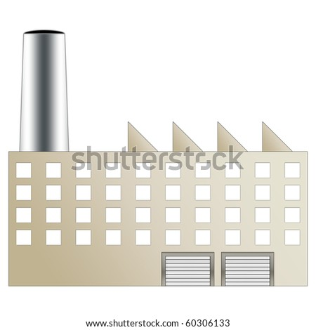 Factory building brown color - stock photo