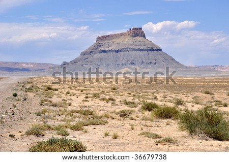 Factory Butte - Southern Utah - stock photo
