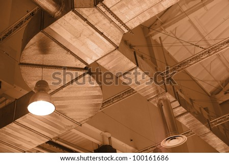 Factory ceiling - stock photo