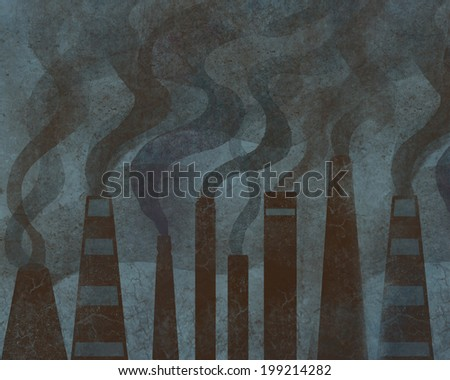 Factory chimneys and smoke.  Industry pollution. - stock photo