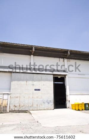 factory door - stock photo