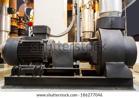 Factory equipment ,chiller pump - stock photo