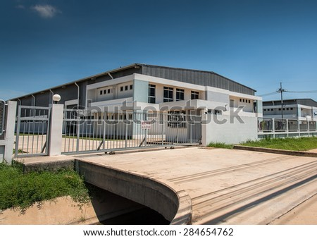 Factory for rent - stock photo