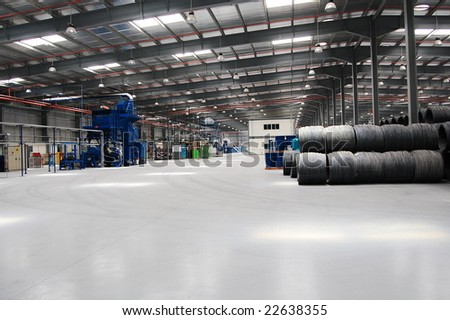 Factory from inside - stock photo