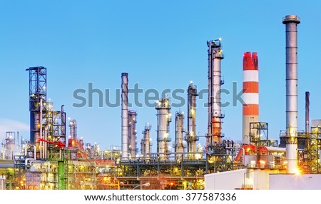 Factory, Industrial plant - stock photo