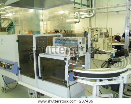 Factory machine lines - stock photo