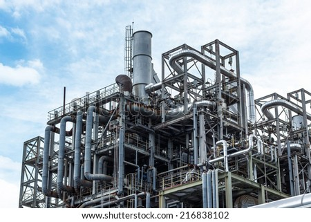 factory of the refinery - stock photo