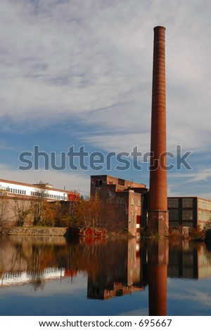 Factory on River Bank