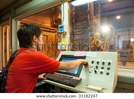 Factory operator - stock photo