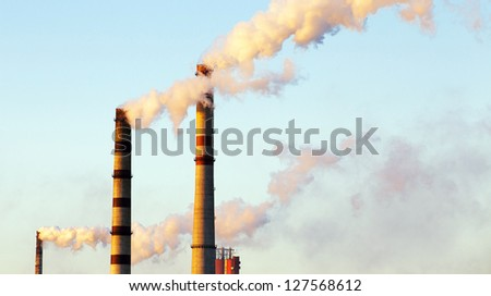 factory pipes - stock photo