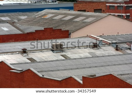 Factory rooftops - stock photo