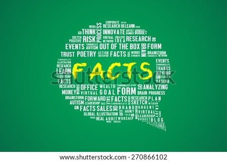 FACTS word on speech bubble