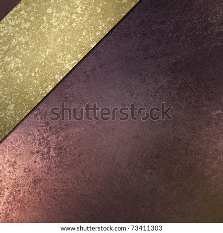 faded antique burgundy pink background with top angle ribbon stripe in burnished gold sponge texture, soft light, grunge texture, artistic layout, and copy space to add your own title or text - stock photo
