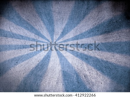 Faded blue and white grunge starburst