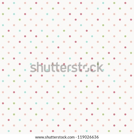 faded colorful polka dot seamless textured pattern - stock photo