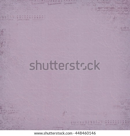 faded music border on soft mauve textured background
