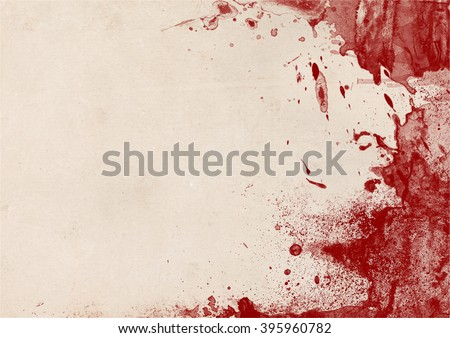 Faded paper background with messy blood stains