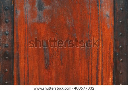 Faded worn bright rusty metal texture  - stock photo
