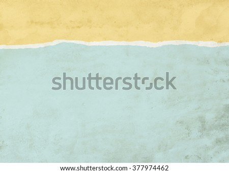 Faded yellow and blue dirty stained ripped paper background