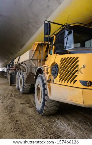 """FAGNANO OLONA, ITALY - APRIL 22: Construction of tunnel """"Pedemontana"""" in Lombardy (Italy), on April 22, 2013 in Fagnano Olona (VA), Italy.  - stock photo"""