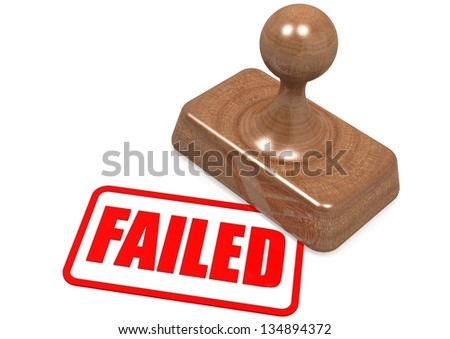 Failed word on wooden stamp - stock photo