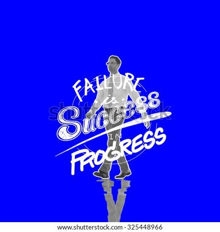 Failure Success Progress Business Investment Concept - stock photo