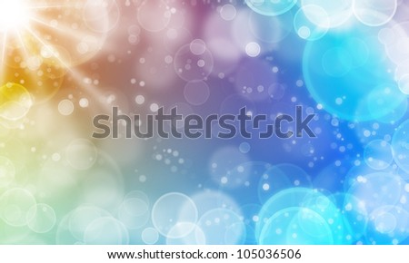 fair abstract background with lights cycle bokeh and stars - stock photo