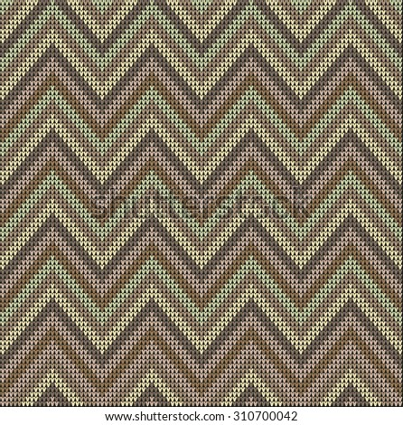 Fair Pattern pastel sweater design on the wool knitted texture. Knitting Ornament - stock photo