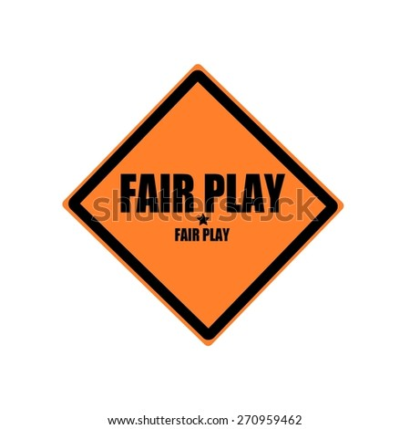 Fair play black stamp text on orange background - stock photo