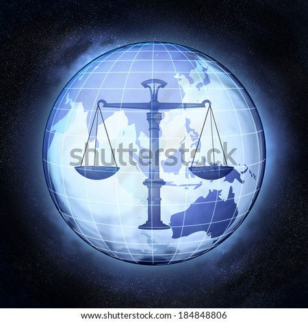 fair trade in Asia earth globe at cosmic view concept illustration - stock photo