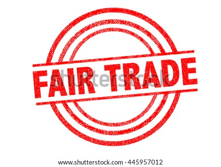 FAIR TRADE Rubber Stamp over a white background. - stock photo
