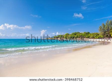 Fairy beach on Samet island in Thailand. - stock photo