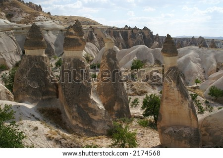 fairy chimney, Cappadocia, Turkey - stock photo