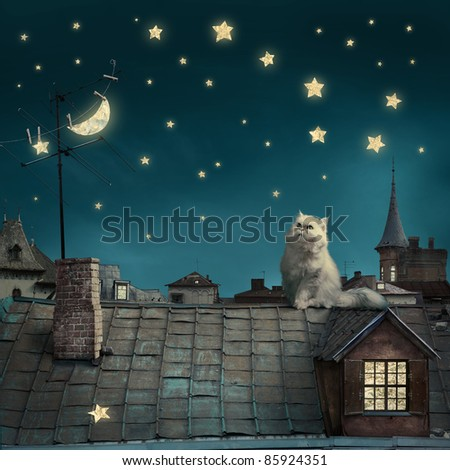 fairy night background. see more on my page - stock photo