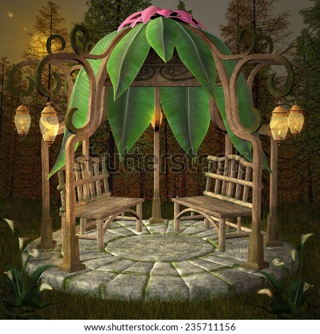 Fairy pavilion - stock photo