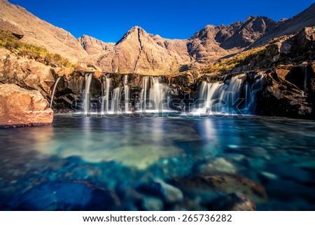 Fairy pool - stock photo