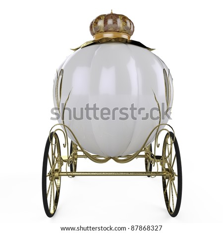 fairy tale carriage back view - stock photo