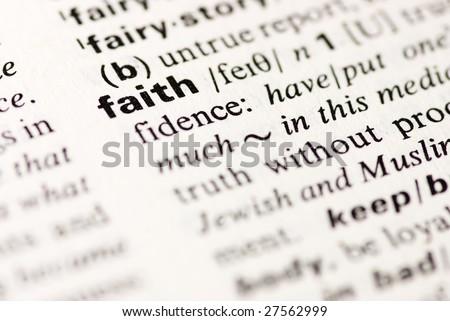 faith dictionary definition - stock photo