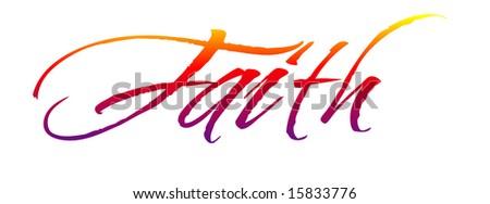 Faith Illustration Script - stock photo