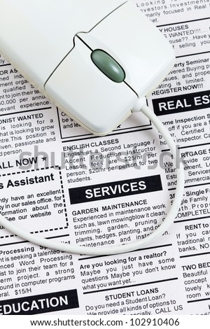 Fake Classified Ad, newspaper,Services concept. - stock photo