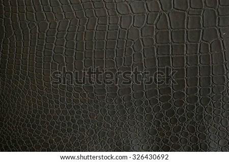 Fake crocodile texture - stock photo