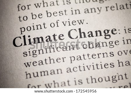 Fake Dictionary, Dictionary definition of Climate Change . - stock photo