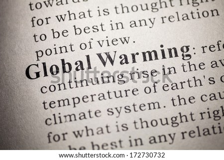 Fake Dictionary, Dictionary definition of Global Warming.