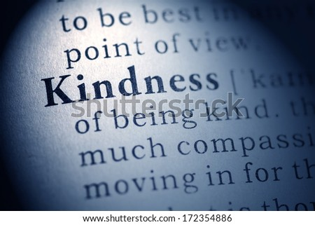 Fake Dictionary, Dictionary definition of kindness. - stock photo